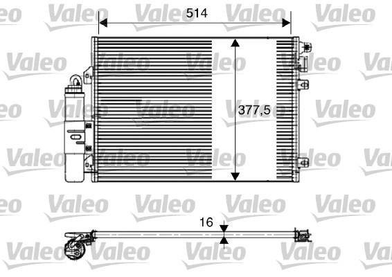 Condenseur, climatisation - VALEO - 817827