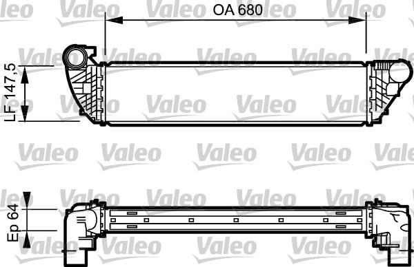 Intercooler, échangeur - VALEO - 817828