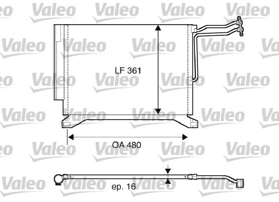 Condenseur, climatisation - VALEO - 817837