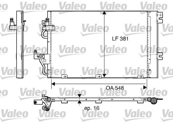 Condenseur, climatisation - VALEO - 817839