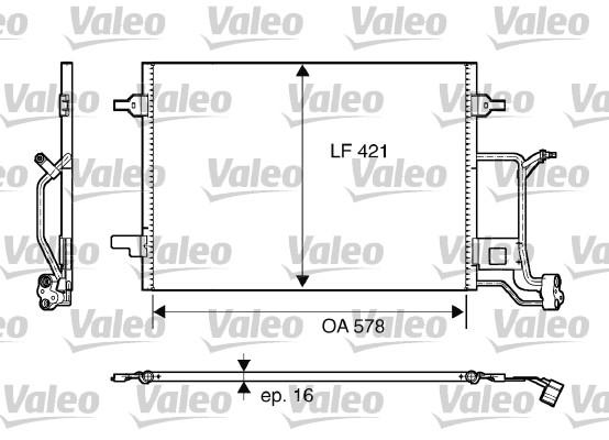Condenseur, climatisation - VALEO - 817840