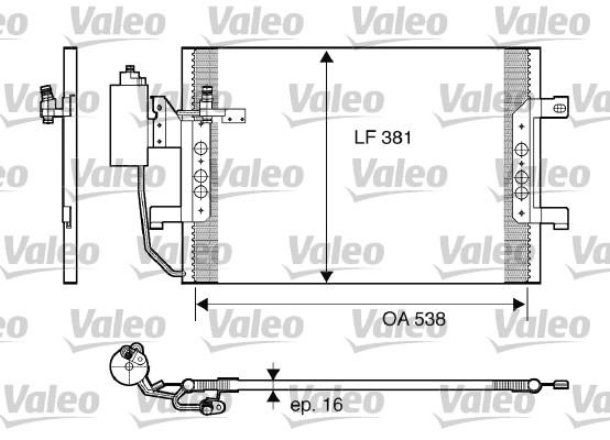 Condenseur, climatisation - VALEO - 817841
