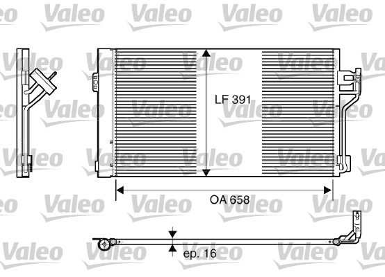 Condenseur, climatisation - VALEO - 817842
