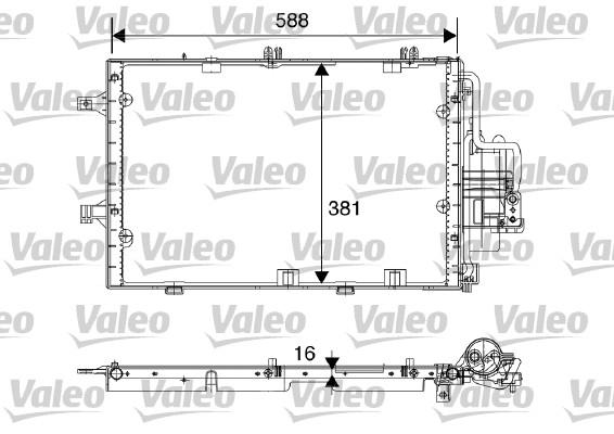Condenseur, climatisation - VALEO - 817843