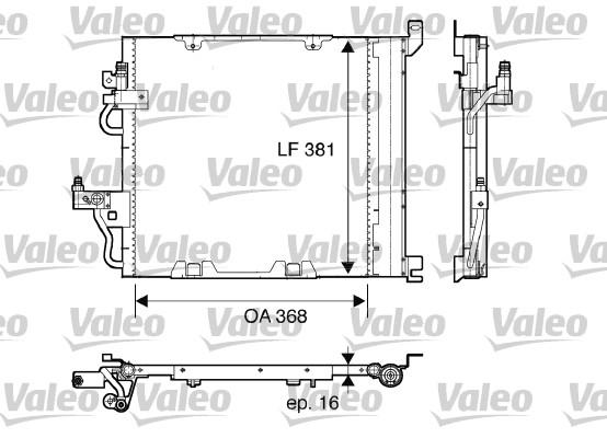 Condenseur, climatisation - VALEO - 817847