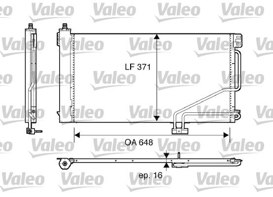 Condenseur, climatisation - VALEO - 817848