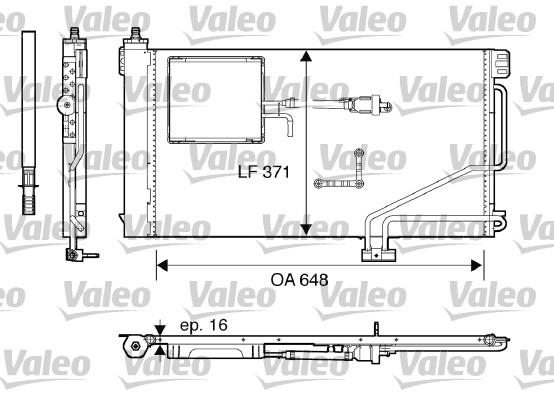 Condenseur, climatisation - VALEO - 817849