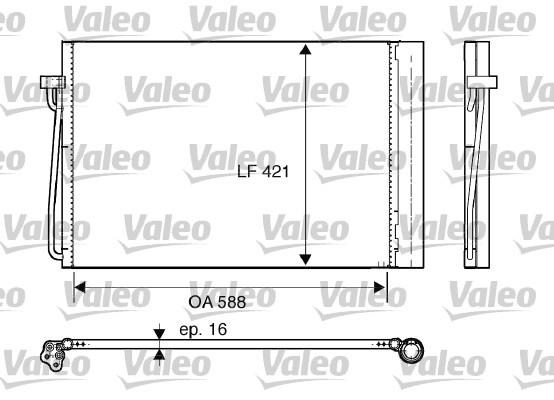 Condenseur, climatisation - VALEO - 817850