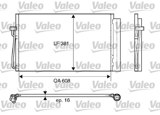 Condenseur, climatisation - VALEO - 817851