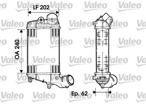 Intercooler, échangeur - VALEO - 817861