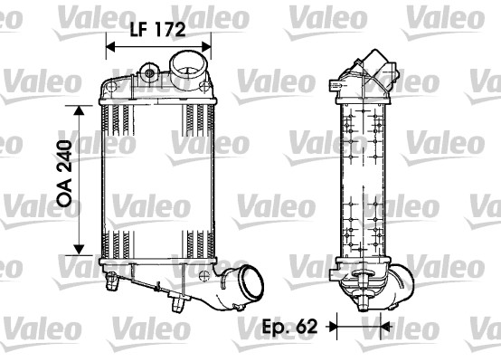 Intercooler, échangeur - VALEO - 817862