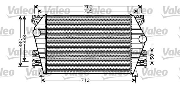 Intercooler, échangeur - VALEO - 817864