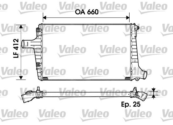 Intercooler, échangeur - VALEO - 817865