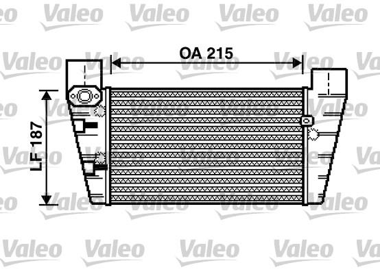 Intercooler, échangeur - VALEO - 817867