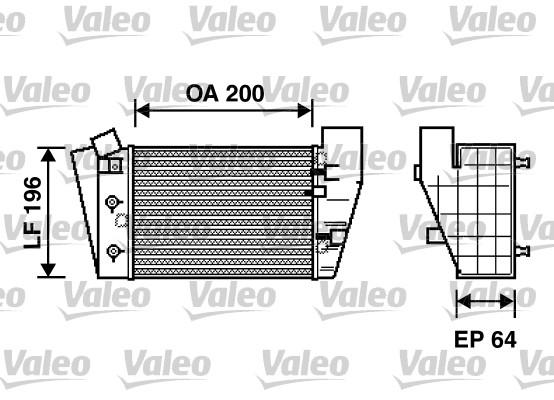 Intercooler, échangeur - VALEO - 817869