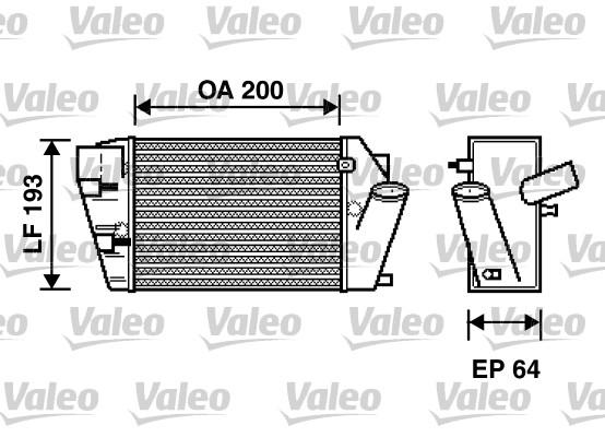 Intercooler, échangeur - VALEO - 817870