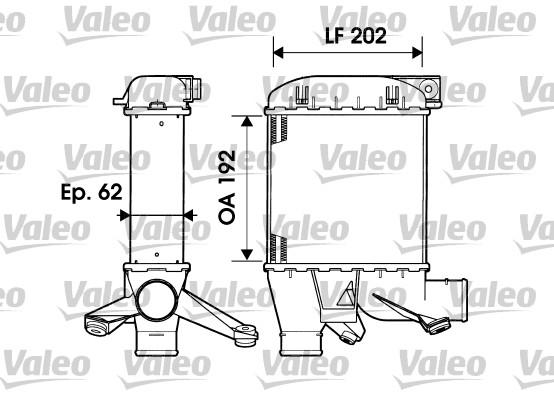 Intercooler, échangeur - VALEO - 817876