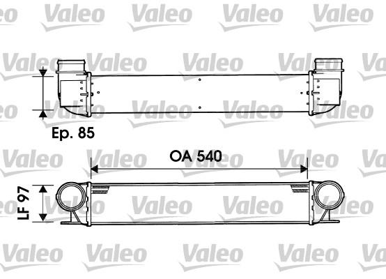 Intercooler, échangeur - VALEO - 817877