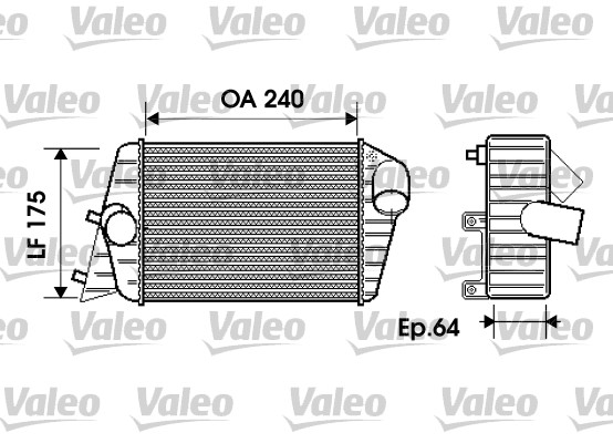 Intercooler, échangeur - VALEO - 817879
