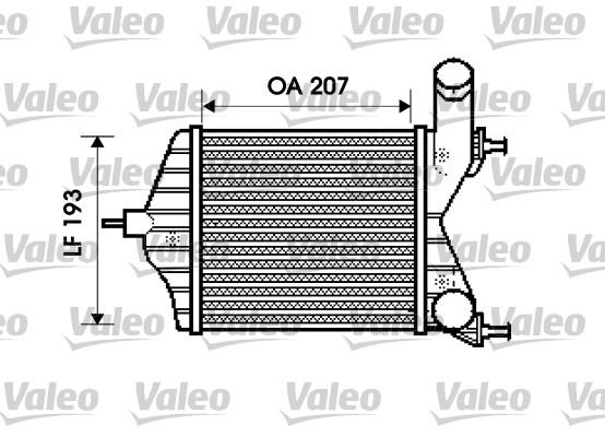 Intercooler, échangeur - VALEO - 817882