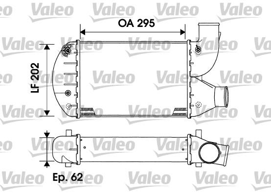 Intercooler, échangeur - VALEO - 817883
