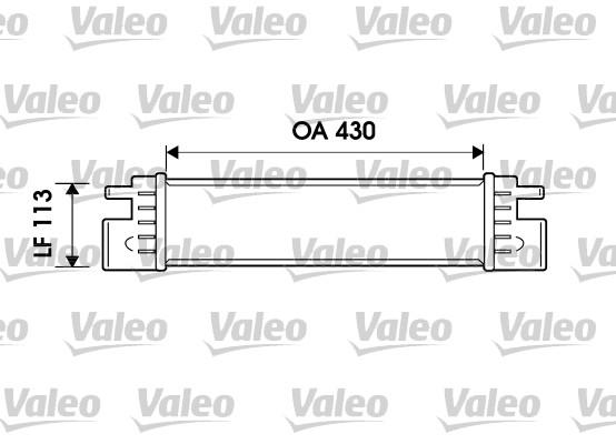 Intercooler, échangeur - VALEO - 817903