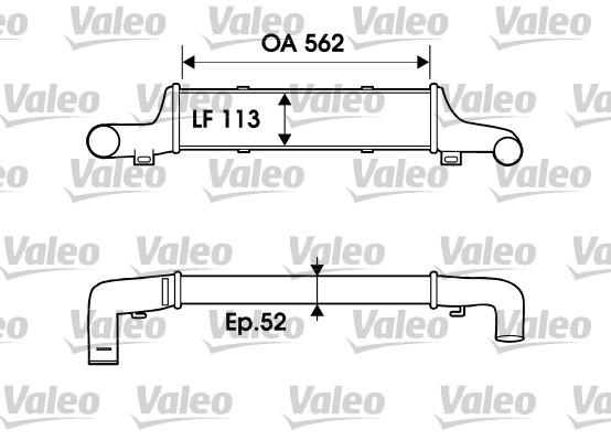 Intercooler, échangeur - VALEO - 817905