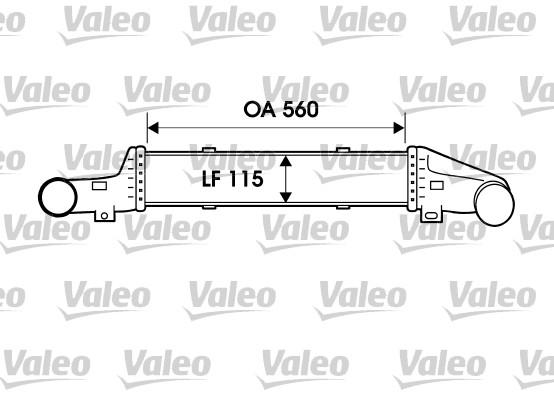 Intercooler, échangeur - VALEO - 817907
