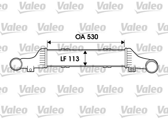 Intercooler, échangeur - VALEO - 817911