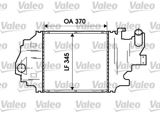 Intercooler, échangeur - VALEO - 817923
