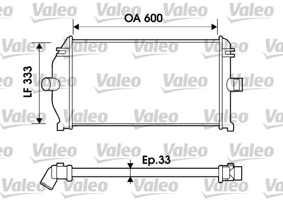 Intercooler, échangeur - VALEO - 817924
