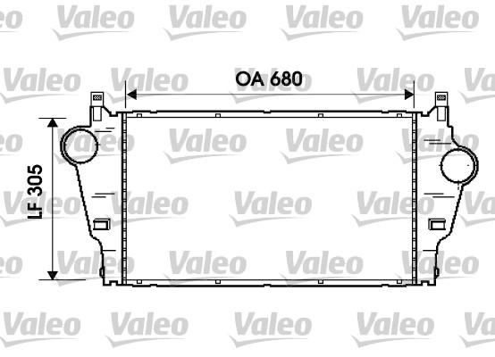 Intercooler, échangeur - VALEO - 817926
