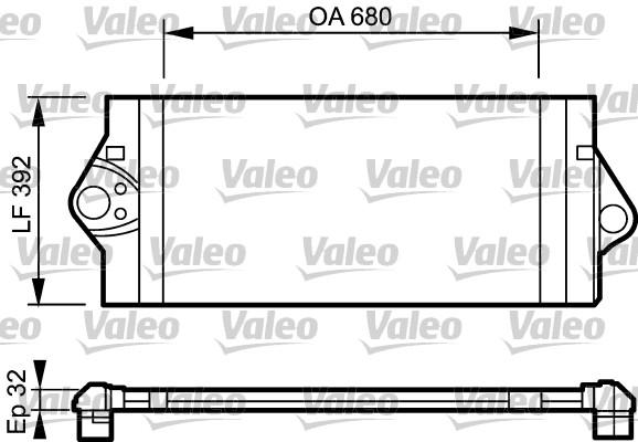 Intercooler, échangeur - VALEO - 817927