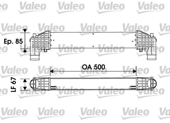 Intercooler, échangeur - VALEO - 817936