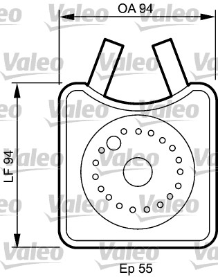 Radiateur d'huile - VALEO - 817943