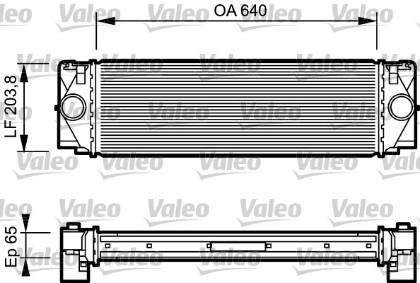 Intercooler, échangeur - VALEO - 817994