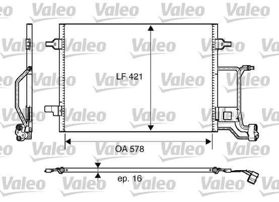 Condenseur, climatisation - VALEO - 817997