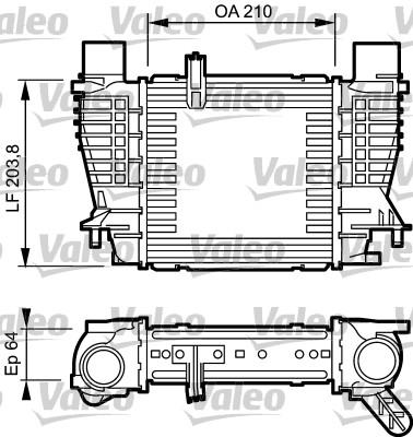 Intercooler, échangeur - VALEO - 817999