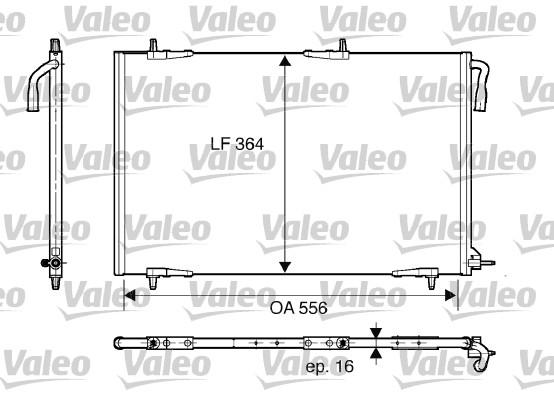 Condenseur, climatisation - VALEO - 818000