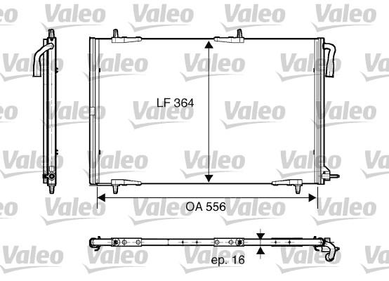 Condenseur, climatisation - VALEO - 818001
