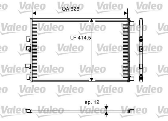 Condenseur, climatisation - VALEO - 818002