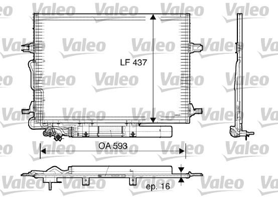 Condenseur, climatisation - VALEO - 818003