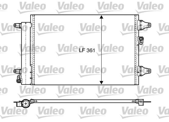Condenseur, climatisation - VALEO - 818004