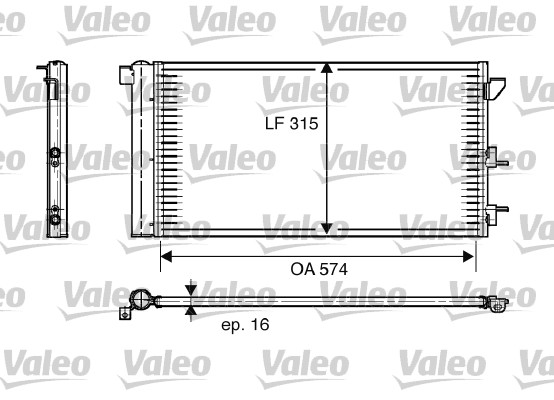 Condenseur, climatisation - VALEO - 818005