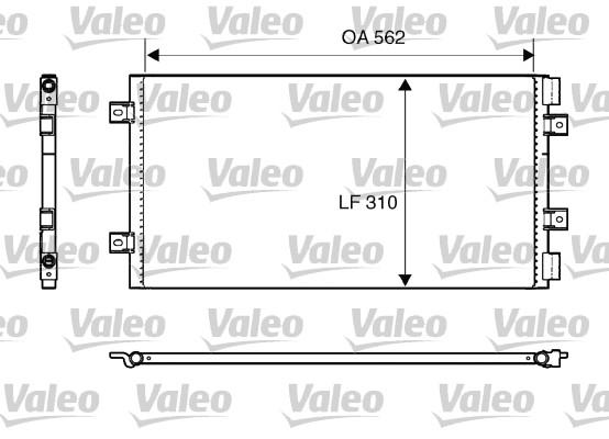 Condenseur, climatisation - VALEO - 818006