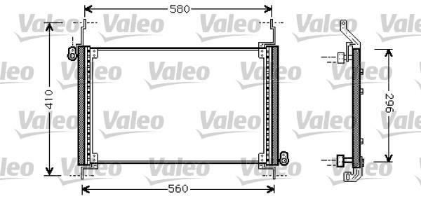 Condenseur, climatisation - VALEO - 818007