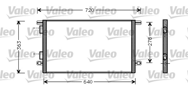 Condenseur, climatisation - VALEO - 818008