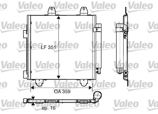 Condenseur, climatisation - VALEO - 818013