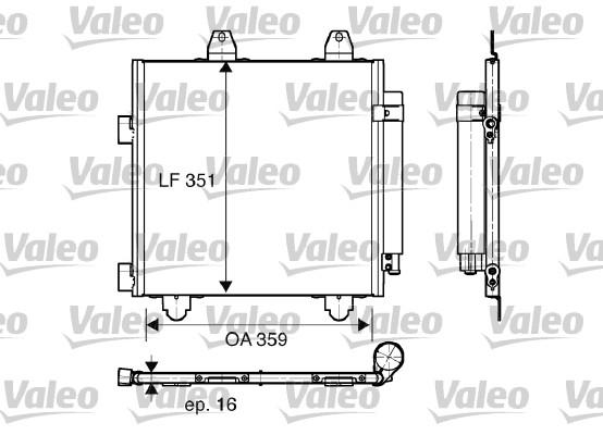 Condenseur, climatisation - VALEO - 818014