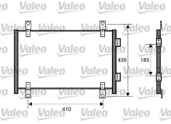 Condenseur, climatisation - VALEO - 818018